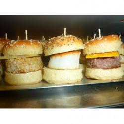 mini burger saumon,...
