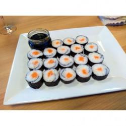 Maki de saumon fumé et...